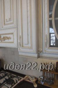 кухня на заказ Барнаул, заказать кухню в Барнауле, классическая белая кухня
